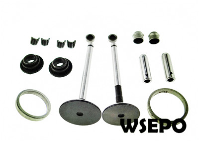 Free Shipping! 178F L70 6hp Diesel Engine Valve+Seat 16PC kit