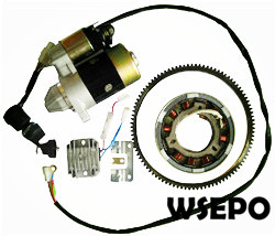 Wholesale 186F 9hp L100 Diesel Engine Electric Start Rebuild Kit