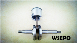 Wholesale chainsaw parts,quality 2500 25cc crankshaft+Piston