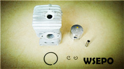 Wholesale chainsaw parts,quality 2500 25cc cylinder piston kit