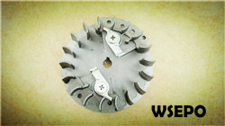 Wholesale chainsaw parts,quality 2500 25cc flywheel for supply