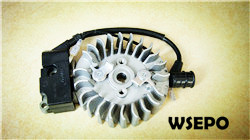 Quality parts!wholesale 45cc gas chainsaw flywheel+Coil comp