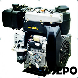 WSE-292F 997cc 25hp Double-Cylinder Air Cooled Diesel Engine